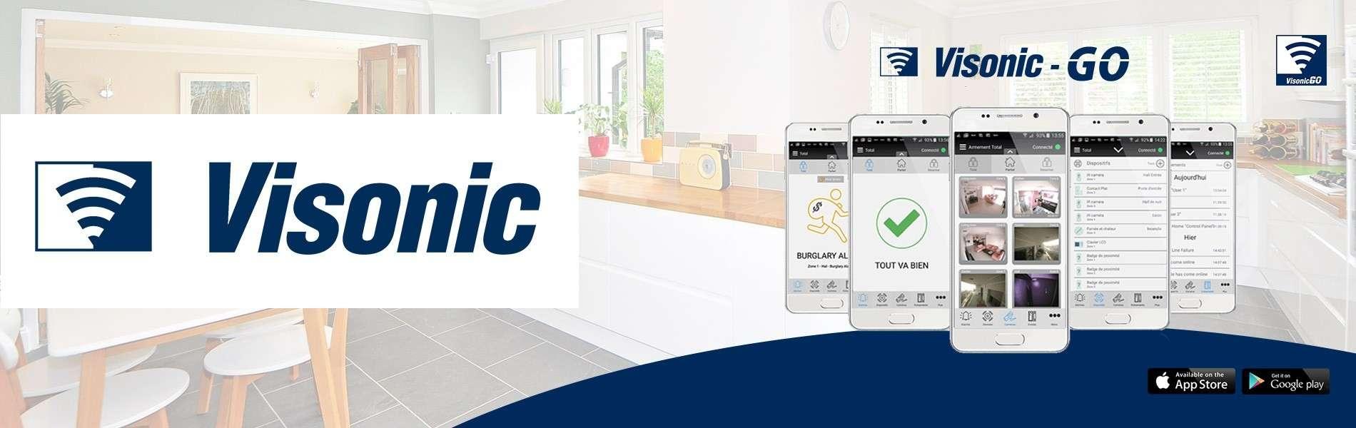 VISONIC-GO : Application mobile pour PowerMAX et PowerMASTER