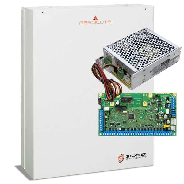 ABSOLUTA 8 EXT. 104 ZONES, 3 EXT. 50 OUT, 8GRP +PSU 3.6A +METAL BOX