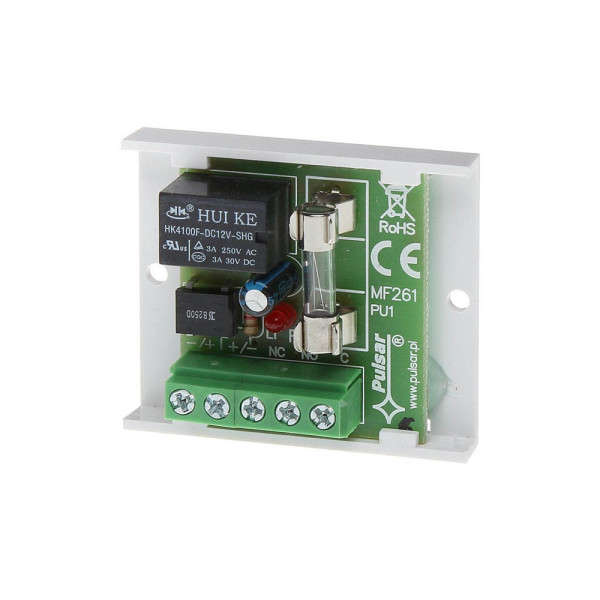 RELAIS NO/NF, FUSIBLE 1A, SUR PCB 50X43X20MM