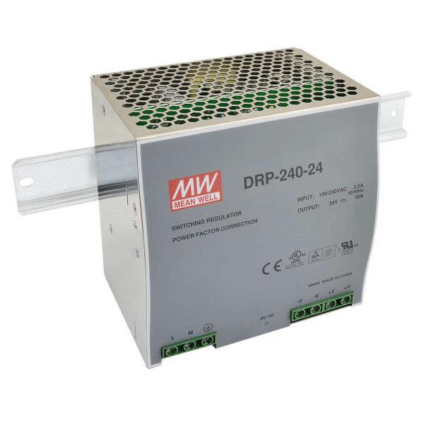 PSU RAIL DIN 24VDC 240W, 24V/240W/10A (126X125X100)