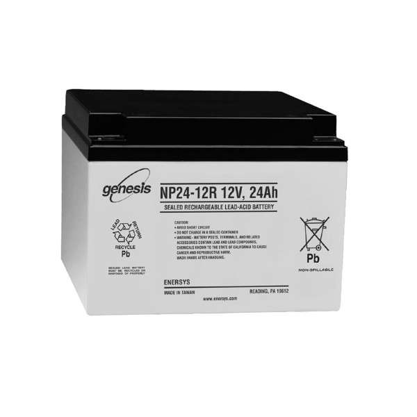 BATTERIE 12 VOLTS 24 AH DIM : L166 X H126 X L175 MM