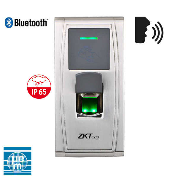 CONTROLE D'ACCES BIOMETRIQUE AUTONOME, PRG VOCAL +BLUETOOTH IP-RS485-USB