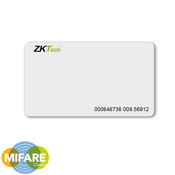 CARTE DE PROXIMITE, MIFARE (1K), ISO, AVEC N°, POUR ZKTECO, BLANC