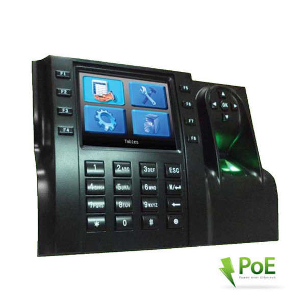 POINTEUSE GESTION DE TEMPS RFID +EMPREINTES, POE, LCD 3.5