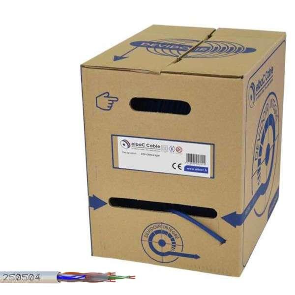 CABLE UTP CAT-6, 4 X 2 X 0.44MM, GRIS, HALOGEN FREE, DEVIDOIR 305M