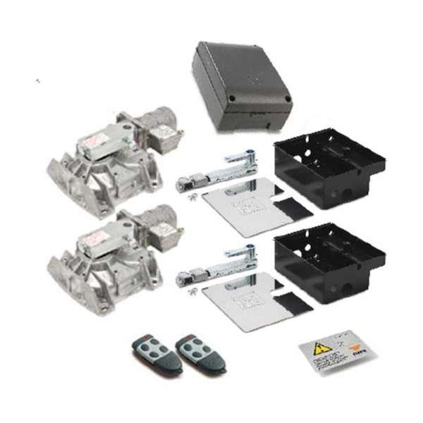 KIT 2 MOTEURS HL2524 24VDC+PRG 900+BATT+S449 RXFM+2 S449TX4+PANEAU SIGNA