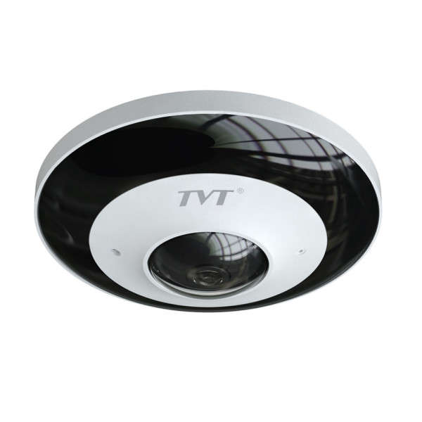 DOME INT FISHEYE D/N IP, 6MP/25IPS, H265, 180-360°, POE, AL IN/OUT