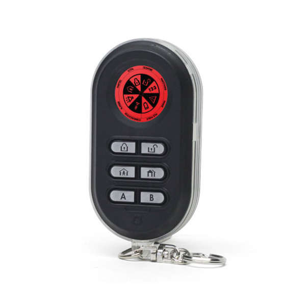 KEYFOB MCT-237,EMETTEUR 868MHZ 4 CANAUX BI-DIRECTIONNEL, PILE 1.5V AAA