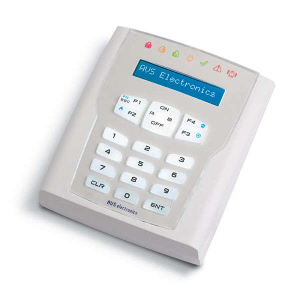 CLAVIER WIRELESS, 7 LED, 2 TOUCHES PROG.