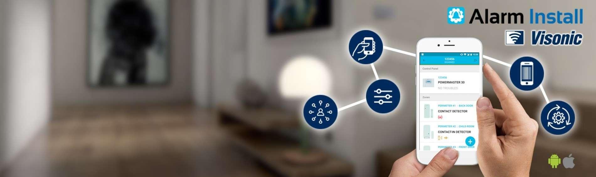 Nouvelle application Visonic : ALARM INSTALL pour POWER-G & COMPLETE.