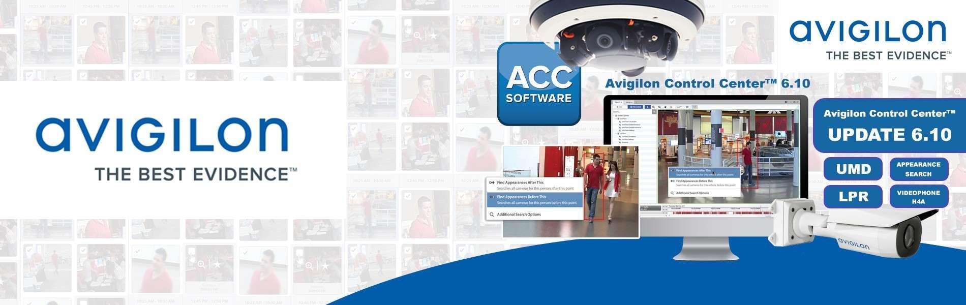 AVIGILON : Mise à jour Avigilon Control Center (ACC) 6.10
