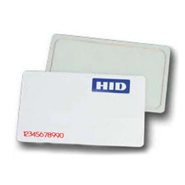 CARTE WIEGAND HID NUMEROTEE, 30 BITS