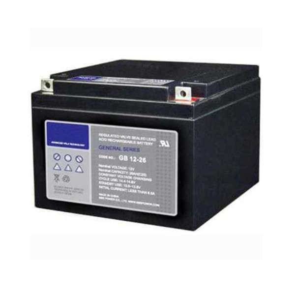 BATTERIE 12 VOLTS 26 AH DIM : L166 X H126 X L175 MM