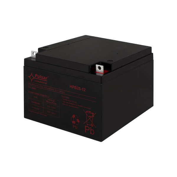 BATTERIE 12 VOLTS 28 AH DIM : L166 X H126 X L175 MM