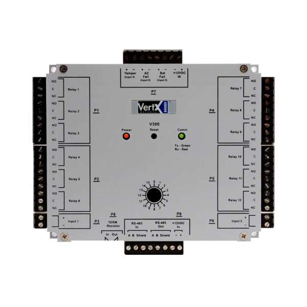 MODULE DE SORTIES VERTX V300 HID, 12 SORTIES, RS485, 3 ENTREES MONITOR