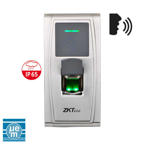 CONTROLE D'ACCES BIOMETRIQUE AUTONOME, 1 PORTE, PRG VOCAL, IP-RS485-USB