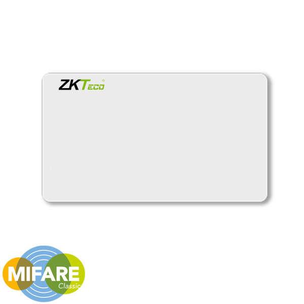 CARTE DE PROXIMITE, MIFARE (4K), ISO, AVEC N°, POUR ZKTECO, BLANC
