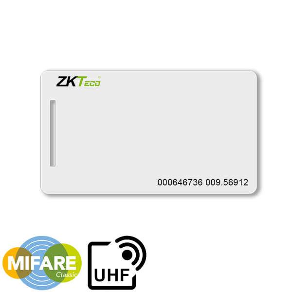 CARTE DE PROXIMITE, MIFARE (1K) +UHF, ISO, AVEC N°, POUR ZKTECO