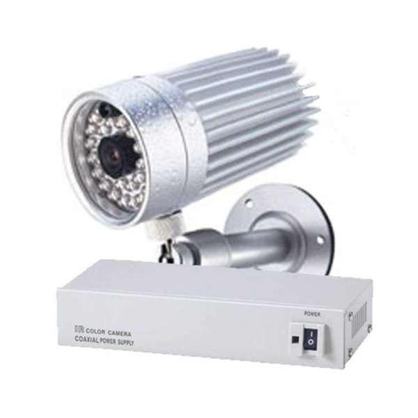 CAM N/B 1/3' WP+IR 40M,0.01 LUX,420L,EL.SH & BLC, 3.6MM,ALIM+15M COAX