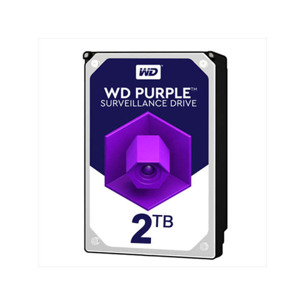 HDD 2TB POUR DVR, WESTERN DIGITAL PURPLE, H24/24 SPECIAL VIDEO STREAM
