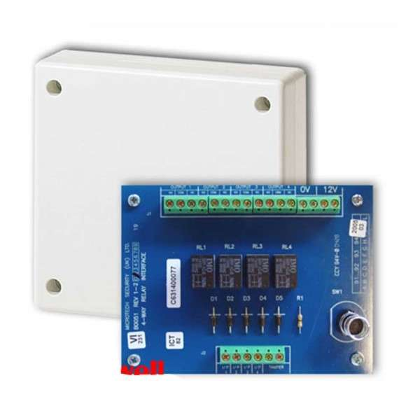 MODULE INTERFACE A 4 RELAIS (C,NO,NF) + BOX