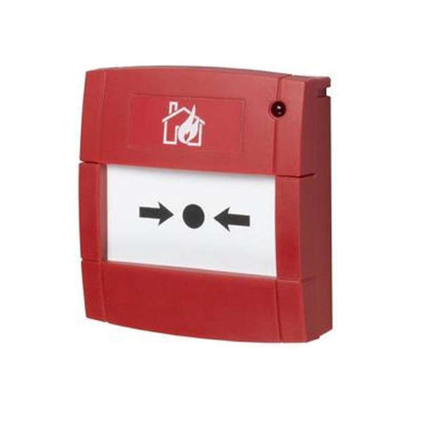 BOUTON POUSSOIR INCENDIE, ELEMENT FLEX. +RES. 47O HMS +LED, ROUGE