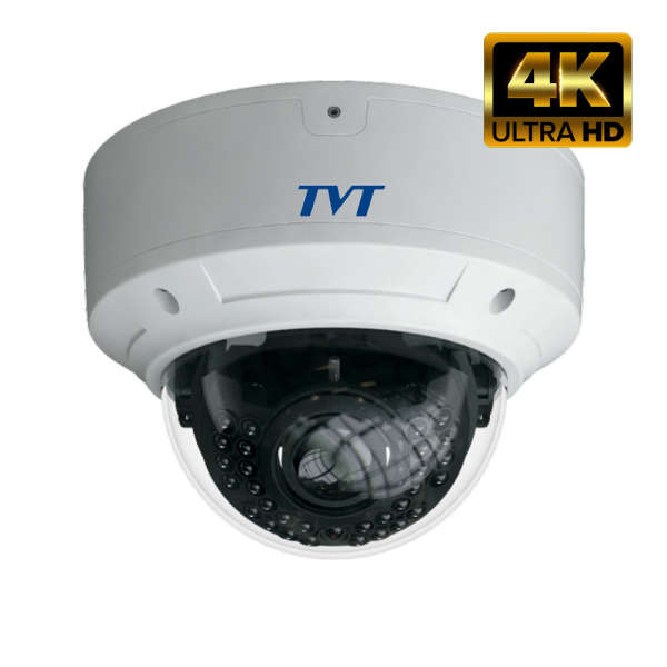 4K DOME D/N WP IP, 8MP/25IPS, WDR, I/O, POE, IR30M MAX, MOTOR LENS, IP66