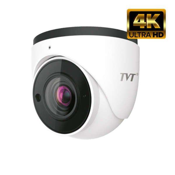 4K IVA EYEBALL IP,8MP/20IPS, DWDR, MIC, POE, IR50M MAX, MOTOR LENS, IP67