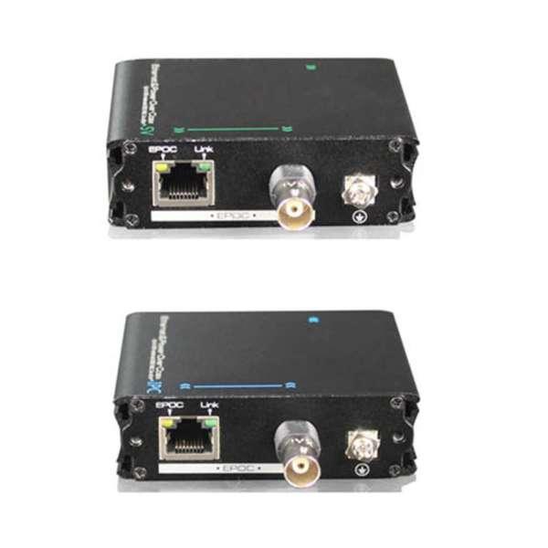 CONVERTISSEURS ETHERNET ET POE VERS COAX (VDSL2) TX+RX+ ALIM(OPTION)