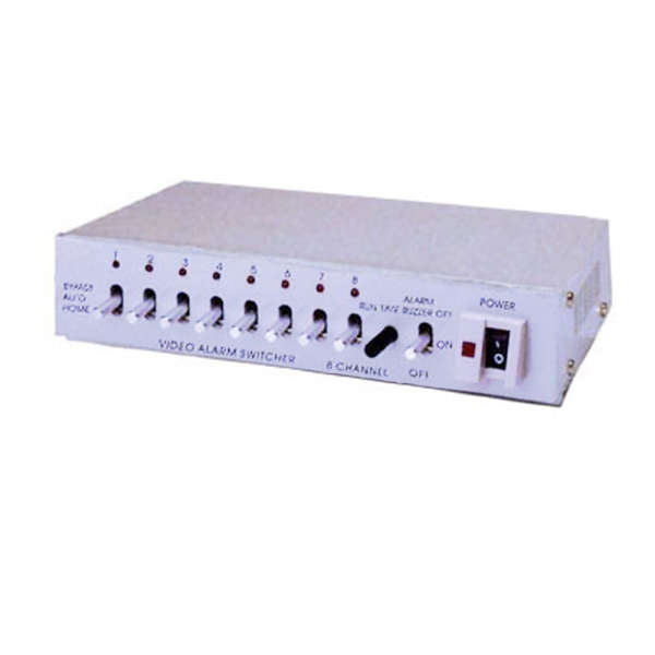 SWITCHER 8 CAMERAS, 1 SORTIE MON, ALARM IN-OUT,   220VAC,(218LX96PX44H)