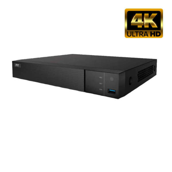 NVR IP 4CH POE +AUDIO, 8MP @ 25FPS, 1 SATA, NO HDD, HDMI 4K