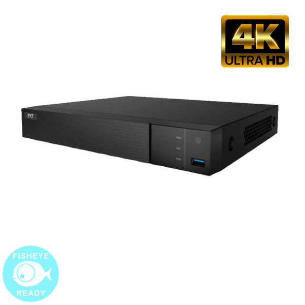NVR IP 8CH +AUDIO, 8MP@25FPS, 2SATA, NO HDD, HDMI 4K, FISHEYE READY