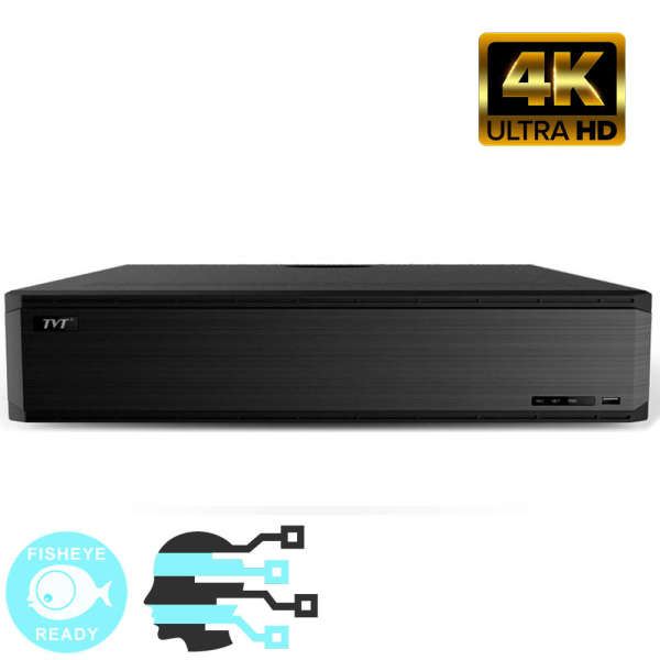 NVR IP 32CH, 8MP@25FPS, ONVIF, 8 SATA, NO HDD,HDMI 4K&2K, FISHEYE & FACE
