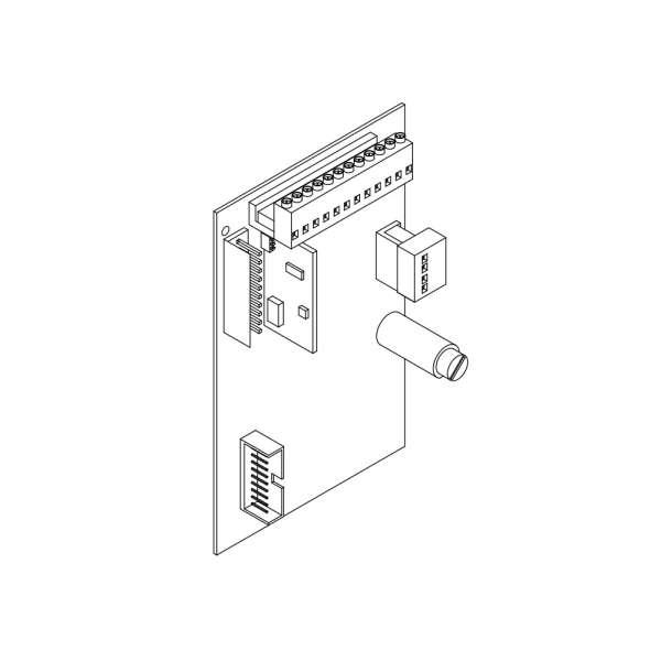 PCB LOGIQUE COMMANDE MOTEUR 220V, EVO600