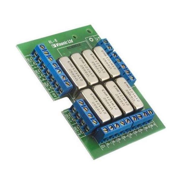 MODULE 8 RELAIS, PCB, POUR MCR308 &  MCX-8