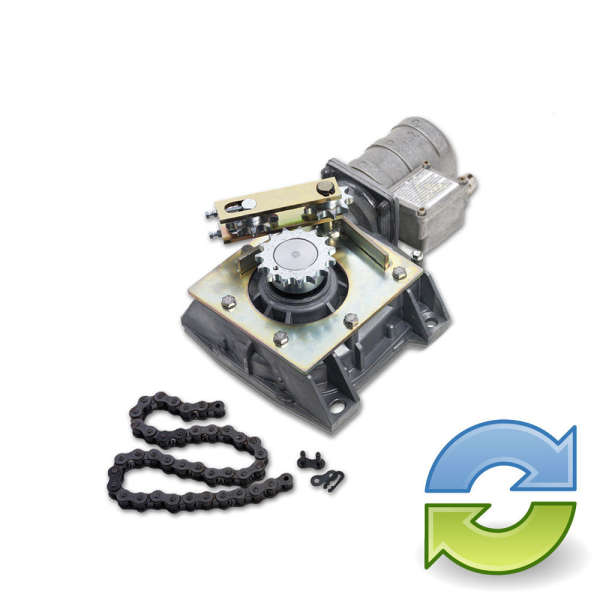 MOTEUR ENTERRE ENCODEUR,24 VOLTS 180°-360° REPARE / REFURBISHED