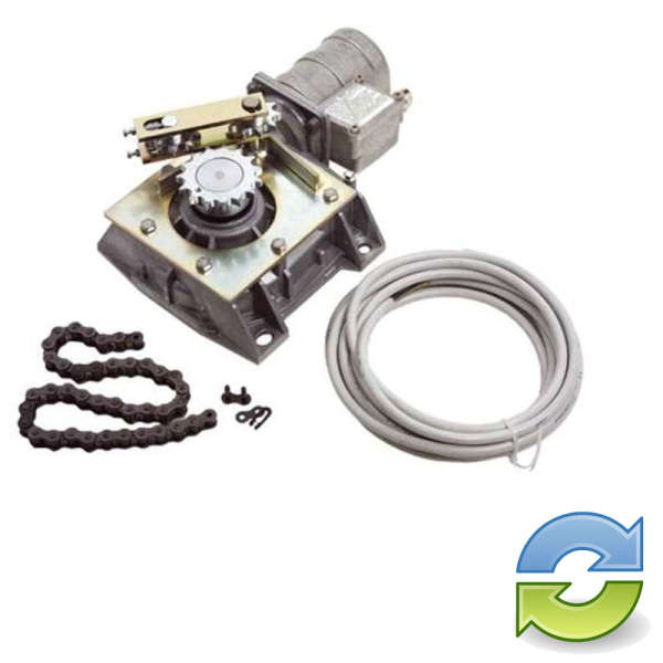 MOTEUR ENTERRE,24 VOLTS 180°-360° REPARE / REFURBISHED