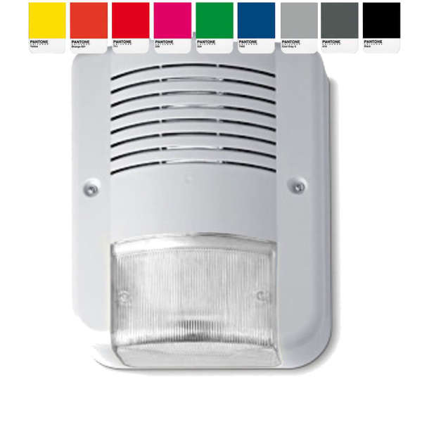 SIRENE EXT +LED FLASH +2 LED INFO, ABS, 95DB, COULEUR PERSONNALISEE