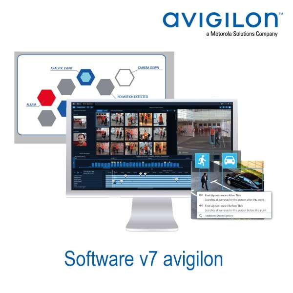 SOFTWARE V7 AVIGILON ENTREPRISE 1CAM/VIEWER ILLIMITES