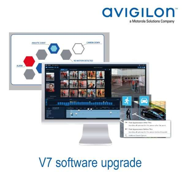 V7 SOFTWARE UPGRADE AVIGILON CORE 1 CAM VERS STANDARD