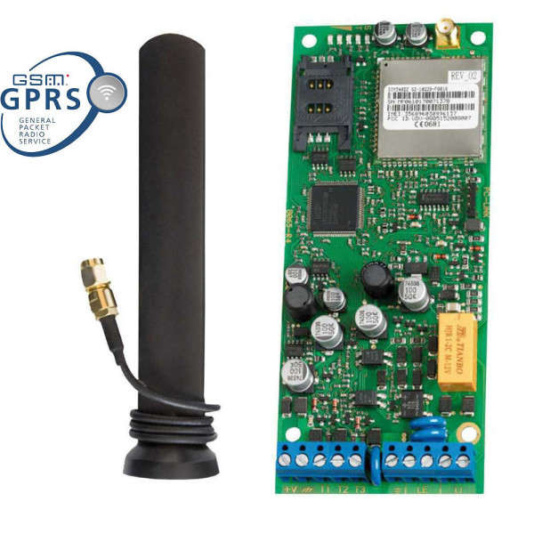 INTERF.GSM GPRS 12-24V,SUP.LIGNE,ANT+25CM,3IN/OUT,100N°,VOCAL 8 MSG, SMS