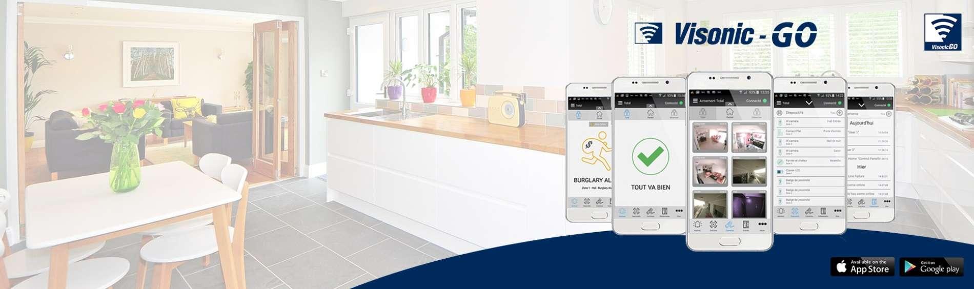 VISONIC-GO : Application mobile pour les centrales PowerMax et PowerMASTER