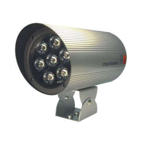INFRAROOD SPOT MET LED 50M, IP66,25°, 220V 10W, 115DIAM X 230L
