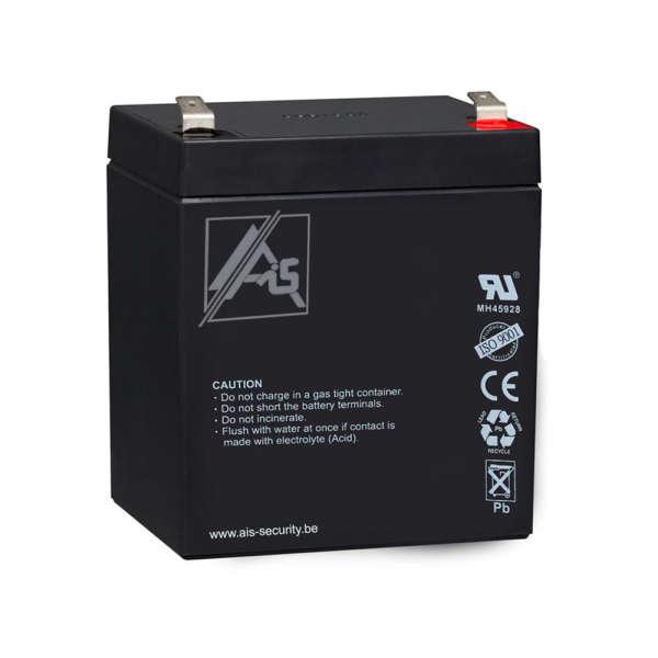 BATTERIJ 12 VOLT / 5 AH, AFM : L90 X H101+6 X L70 MM