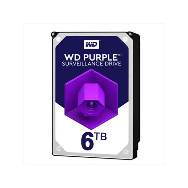 HDD 6TB VOOR DVR, WESTERN DIGITAL PURPLE, 24/7 SPECIAL VIDEO STREAM