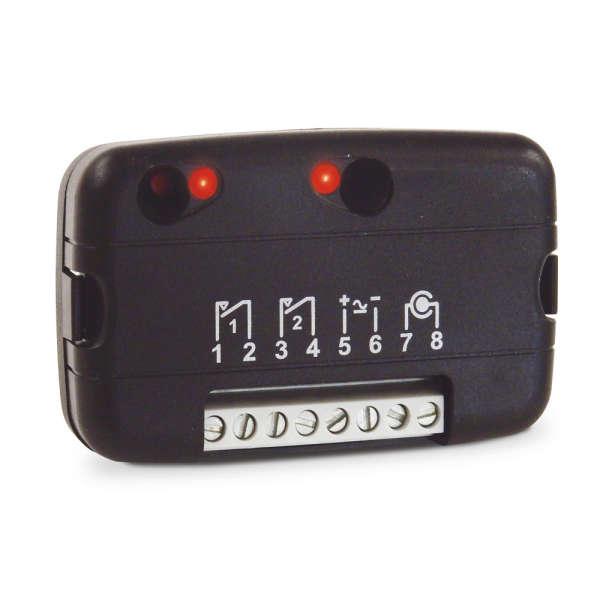 ONTVANGER MINI FM400 RB2, 2 KANALEN, 433MHZ