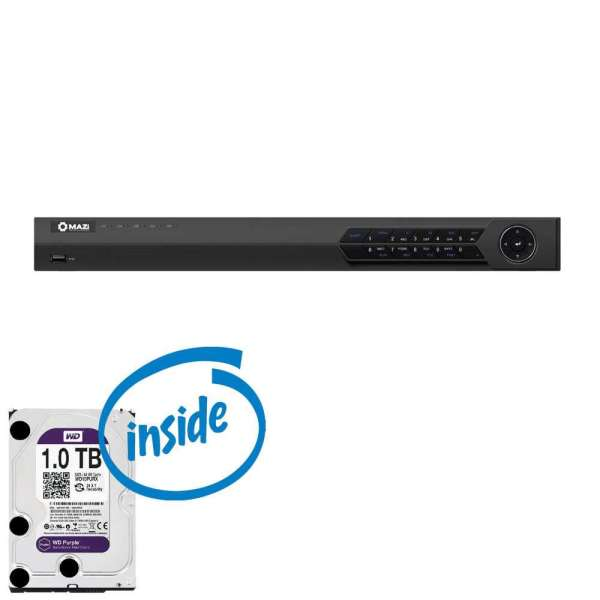 DVR HD-SDI 4 CAM +AUDIO, REAL TIME 100FPS, HDD 1TB (2 SATA)