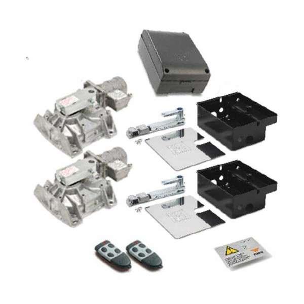 KIT 2 MOTORS HL2524 24VDC+PRG 900+BATT+S449 RXFM+2 S449TX4+SIGNAL.BORDJE