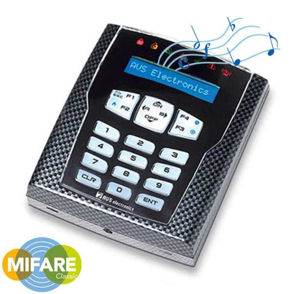 LCD KLAVIER 7 LED PROG. TOETSEN, 2 ZONES +PROX MIFARE/NFC +AUDIO, CARBON