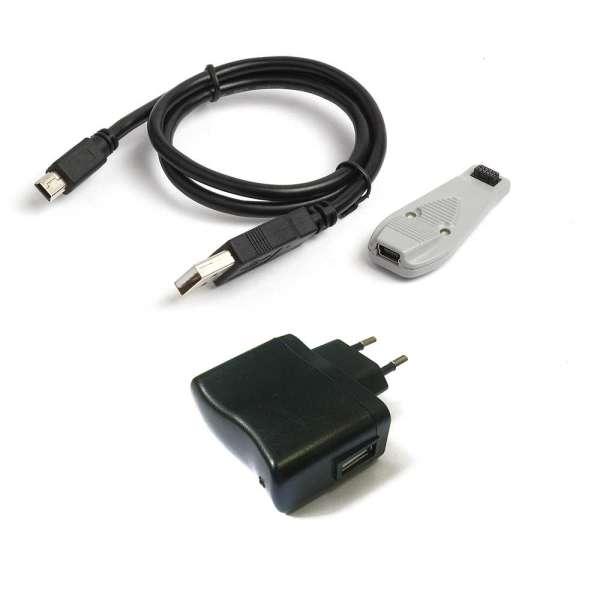 LADER VOOR BI-DIRECTIONELE MORPHEUS ZENDERS : 12 VDC + 230 VAC + USB